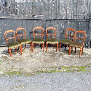 Set Of Six Victorian Antique Mahogany Dining Chairs