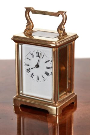 Quality Antique Brass French Carriage Clock C.1900