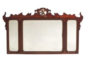 "Large Georgian ""style"" Mahogany Wall Mirror C.1900"