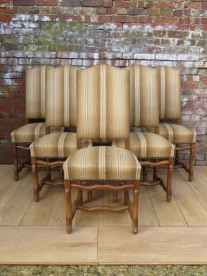 Six Os De Mouton Dining Chairs For Re-upholstery
