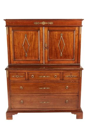 French Empire Mahogany Cabinet On Chest