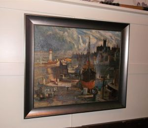 """harbour Scene"" Oil Painting By Tom Anderton."