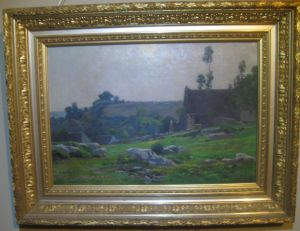 Impressionist: Louis Boulanger (1806-1867) Fine Oil Landscape C1860