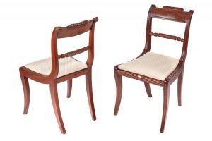Fine Pair Of Regency Mahogany Side Chairs