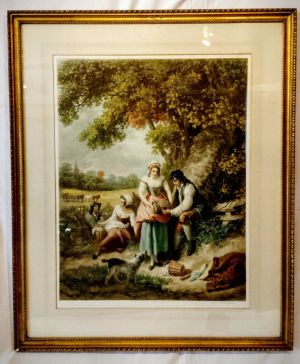 American Engraving 'the Harvest Summer' By Louis Busiere 1920