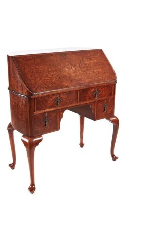 Fantastic Burr Walnut Freestanding Bureau