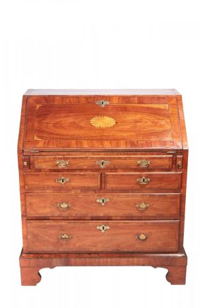 Antique Walnut Inlaid Bureau
