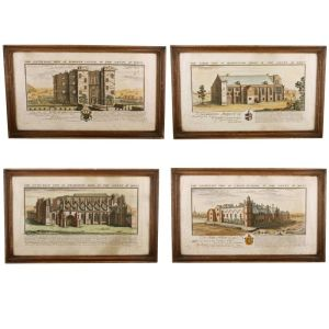 Four Coloured Prints Of Wiltshire