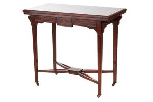 Rosewood Inlaid Card Table C.1900