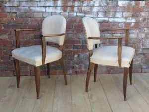 Pair 1930s French Bridge Chairs