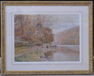 Pair Of Gilt-framed Original Watercolours By John Pedder Ri