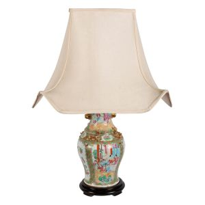 Antique Canton Table Lamp