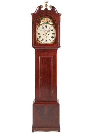 Mahogany Inlaid 8 Day Grandfather Clock