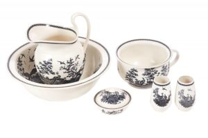 Unusual Victorian Wedgwood Pottery Jug And Bowl Set