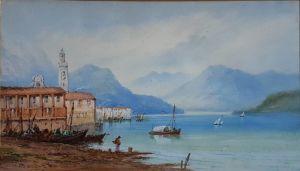 Watercolour Of Lake Como