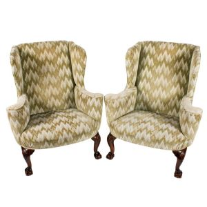 Pair Of 18th Century Style Wing Arm Chairs