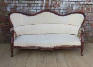 Louis Philippe Sofa For Re-upholstery