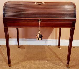 George Iii Tambour Roll Top Country House Desk