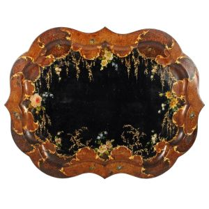 Japanned Victorian Toleware Tray