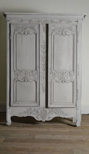 19th Century Antique Carved Armoire