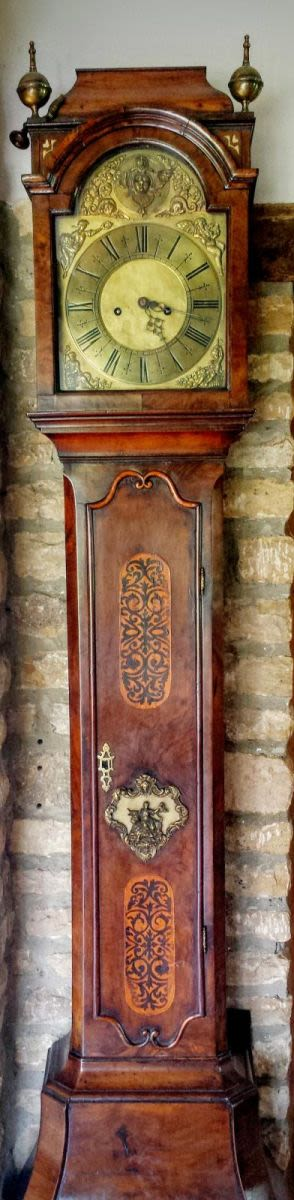 18th Century Dutch Inlaid Walnut Bombee Longcase Clock With English 8 Day Movement (brown -  Birmingham)