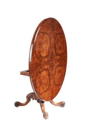 Oval Burr Walnut Centre Table