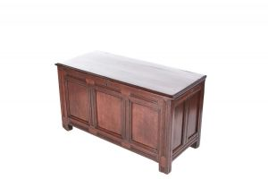 Oak Coffer, Paneled