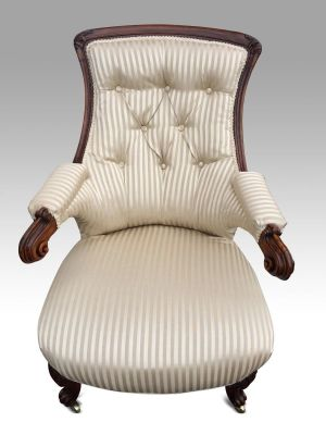 A Superb William Iv Arm Chair Attributed To Gillows
