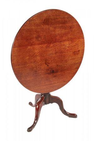 Large George Iii Oak Tripod Table