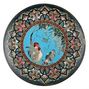 Decorative Japanese Cloisonn̩ Enamel Plaque