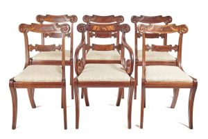 Fine Set Of 6 Regency Dining Chairs C.1820