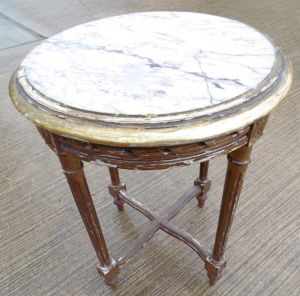 Regency Gilt Marble Topped Table
