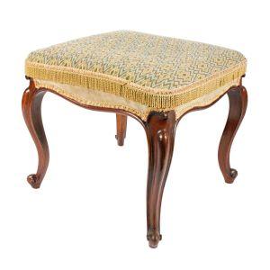 Victorian Mahogany Cabriole Leg Stool