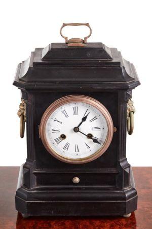 Ebonised Mantel Clock