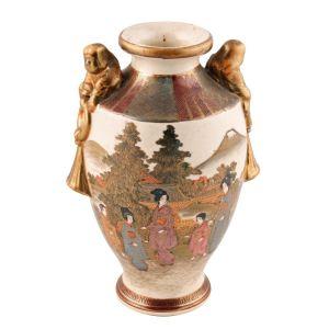 Antique Satsuma Earthenware Vase