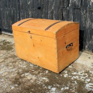 Vintage Pine Dome Top Trunk