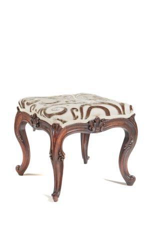 Stylish Victorian Rosewood Cabriole Leg Stool