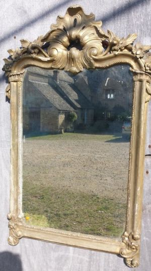19th Century French Gilt Mirror (distressed Condition)