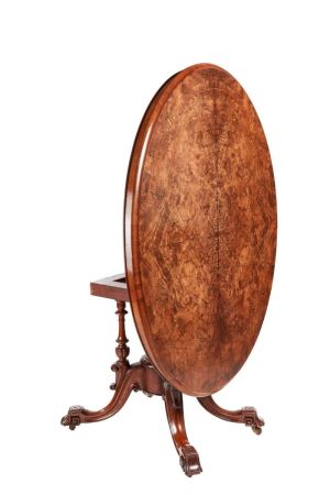 Fine Victorian Oval Burr Walnut Inlaid Centre Table C.1850