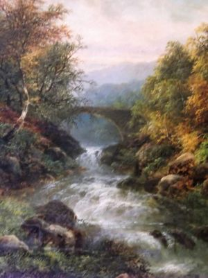 "Victorian Oil Painting Of ""pont Y Pair"" By Listed Artist - George B. Yarnold"