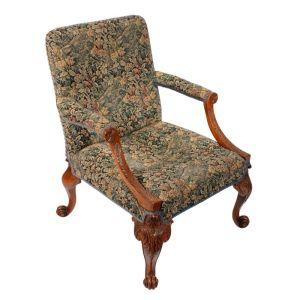 George Ii Style Walnut Gainsborough Chair