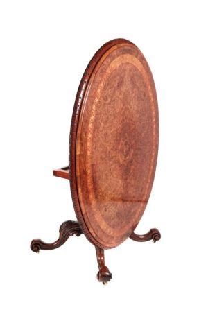 Fine Burr Walnut Inlaid Centre Table C.1850
