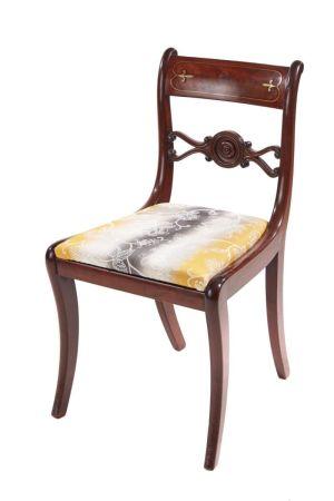 Regency Mahogany Brass Inlaid Desk Chair C.1815