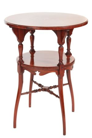 Fine Quality Inlaid Rosewood Two Tire Occasional Table C.1900