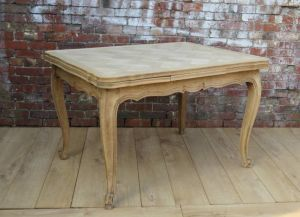 Bleached Oak Draw Leaf Dining Table