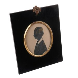 Victorian Silhouette Of A Young Lady Circa 1860