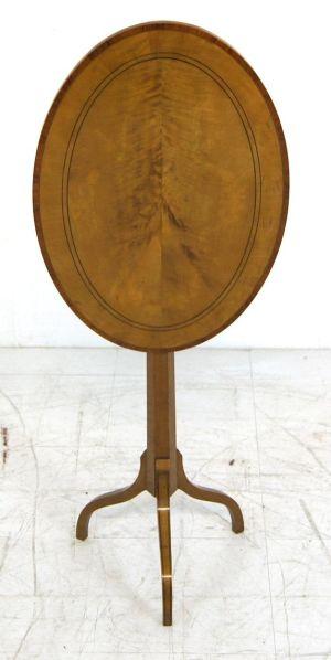A Fine, Elegant Regency Satin Wood Tilt Top Occasional Table