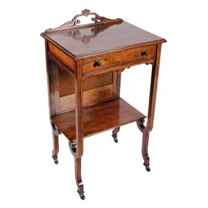 Rosewood One Drawer Side Table