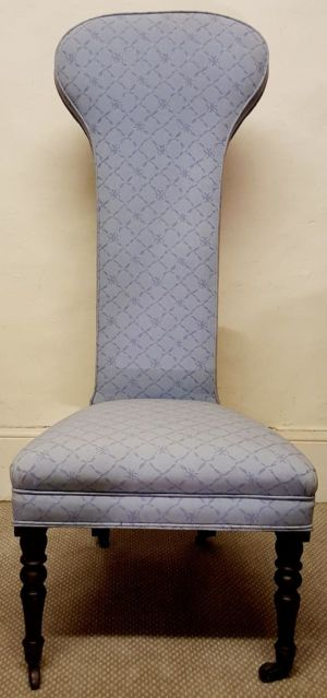 George Iii Blue Antique Upholstered Chair