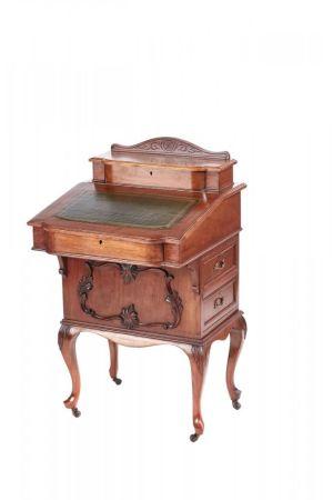 Victorian Freestanding Walnut Davenport C. 1870